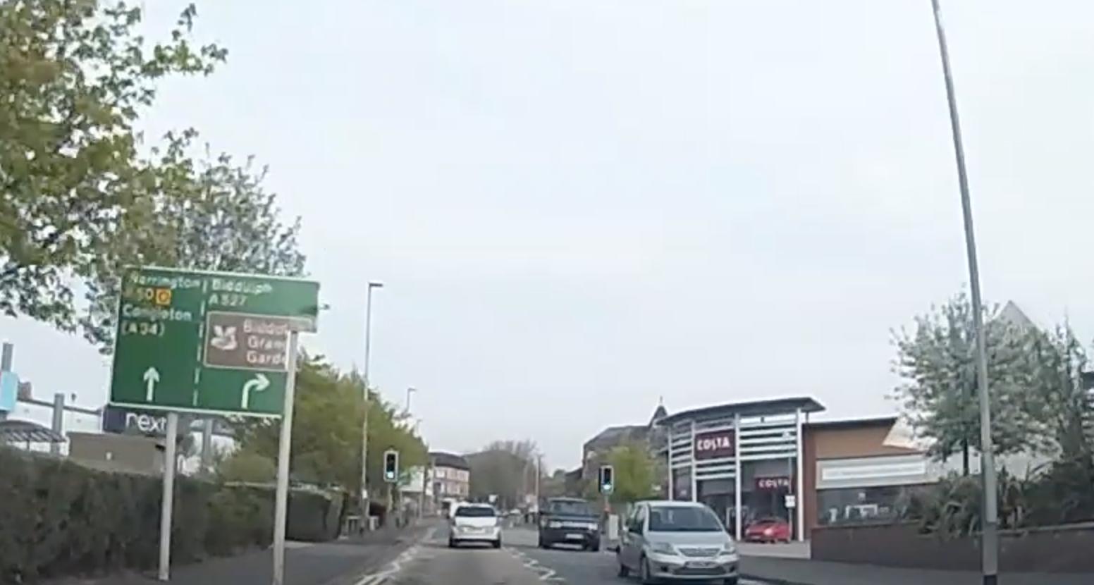 Follow signs to warrington 1