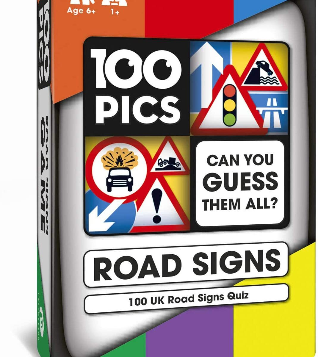 100 PICS Road Signs Travel Game - Traffic Sign Flash Cards, Helps Learn DVLA Highway Code Theory Driving Test UK 2