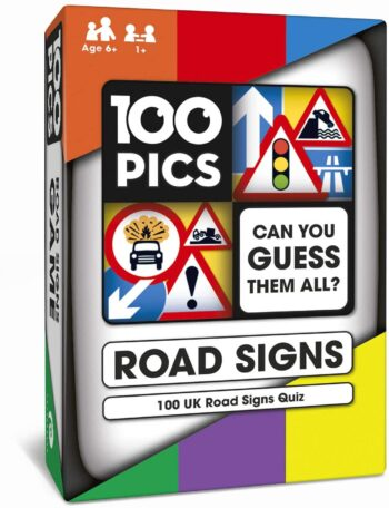 100 PICS Road Signs Travel Game - Traffic Sign Flash Cards, Helps Learn DVLA Highway Code Theory Driving Test UK 3