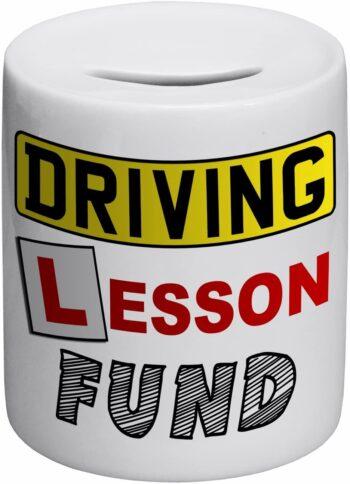 Driving Lesson Fund Novelty Ceramic Money Box 3