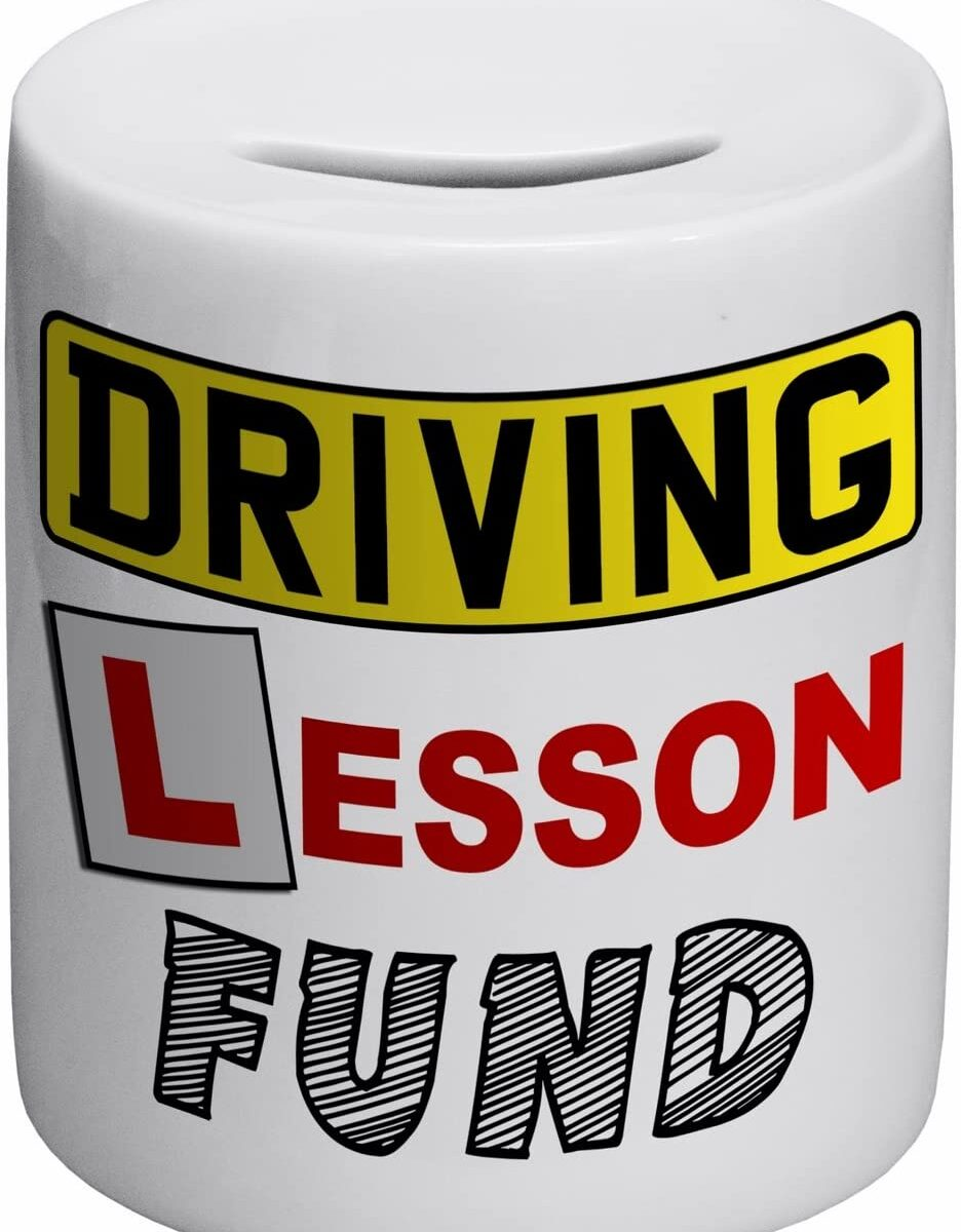 Driving Lesson Fund Novelty Ceramic Money Box 2